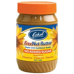 Eskal Freenut Butter Smooth NO Sugar 450g ( 6 Jars - Carton )