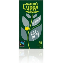 Nature's Cuppa Earl Grey Tea 132 g 60's Tea Bags ( 6 Packets - BOX)