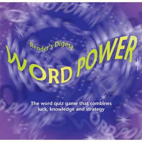 Reader's Digest Word Power Board Game Quiz Educational Family Fun