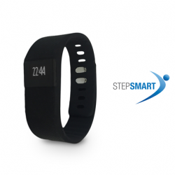Stepsmart Black 14 cm (Compatible With IOS & Android)