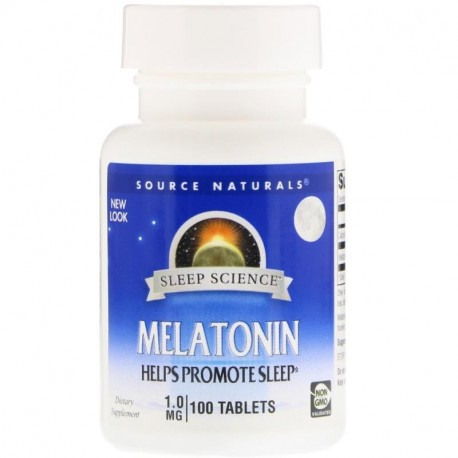 Source Naturals, Sleep Science, Melatonin, 1 mg, 100 Tablets
