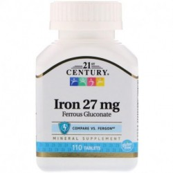 21st Century Iron 27 mg 110 Tablets