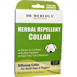 Dr. Mercola Herbal Repellent Collar For Small Dogs & Puppies One Collar 0.7 oz (19.85 g)