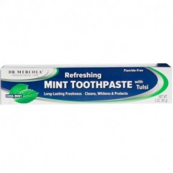 Dr. Mercola Refreshing Toothpaste with Tulsi Cool Mint 3 oz (85 g)