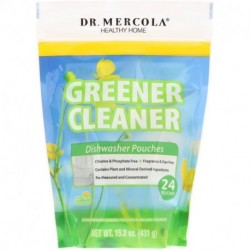 Dr. Mercola Greener Cleaner Dishwasher Pouches 24 Pouches