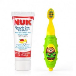 NUK Grins & Giggles Toddler Toothbrush Set 12+ Months 1 Cleanser & 1 Brush