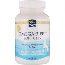 Nordic Naturals Omega-3 Pet Soft Gels For Dogs 90 Soft Gels