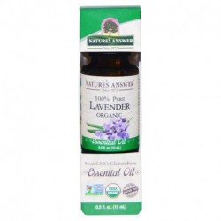 Nature's Answer Organic Essential Oil 100% Pure Lavender 0.5 fl oz (15 ml)
