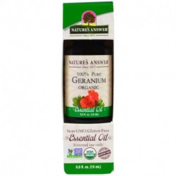 Nature's Answer Geranium Organic Essential Oil 0.5 fl oz (15 ml)