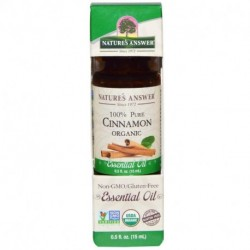 Nature's Answer Organic Essential Oil 100% Pure Cinnamon 0.5 fl oz (15 ml)