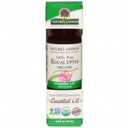 Nature's Answer Organic Essential Oil 100% Pure Eucalyptus 0.5 fl oz (15 ml)