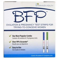 Fairhaven Health BFP Ovulation & Pregnancy Test Strips 40 Ovulation & 10 Pregnancy Tests