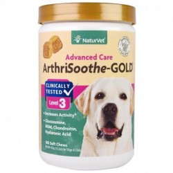 NaturVet ArthriSoothe-GOLD Advanced Care Level 3 180 Soft Chews 15.2 oz (432 g)