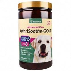 NaturVet ArthriSoothe-GOLD Advanced Care Level 3 120 Chewable Tablets 1.3 lbs (600 g)