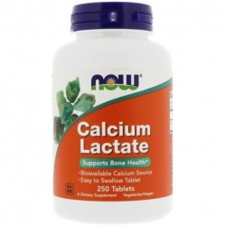 Now Foods Calcium Lactate 250 Tablets