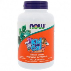 Now Foods Kid Cal Tart Orange 100 Chewables