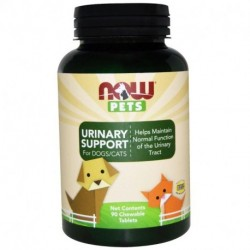 Now Foods Pets Urinary Support For Dogs/Cats 90 Chewable Tablets