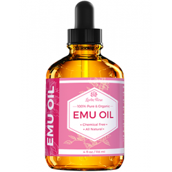 Leven Rose, 100% Pure & Organic Emu Oil, 4 fl oz (118 ml)