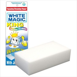 White Magic Eraser Sponge King 1Pk