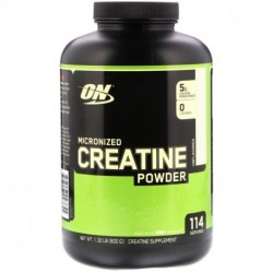 Optimum Nutrition Micronized Creatine Powder Unflavored 1.32 lb (600 g)
