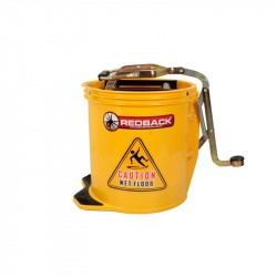Wringer Bucket 15 Litre (Yellow) (50 x 40 x 31cm) - TWO (2) BUCKETS BULK PURCHASE