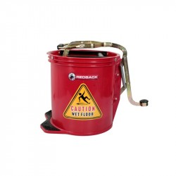 Wringer Bucket 15 Litre (Red) (50 x 40 x 31cm) - TWO (2) BUCKETS BULK PURCHASE