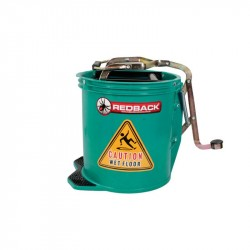 Wringer Bucket 15 Litre (GREEN) (50 x 40 x 31cm) - TWO (2) BUCKETS BULK PURCHASE
