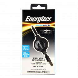 Energizer Hightech x 4 USB To Micro USB Pocket Cable Ring