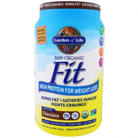 Garden of Life RAW Organic Fit High Protein for Weight Loss Chocolate 32.09 oz (910 g)