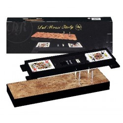 Dal Rossi Cribbage Wood / comes with two packs of playing cards