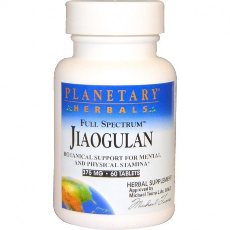 Planetary Herbals Full Spectrum Jiaogulan 375 mg 60 Tablets