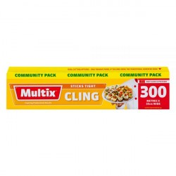 Multix Cling 300m x 33cm - Community Pack
