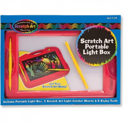 Melissa & Doug Scratch Art Portable Light Box