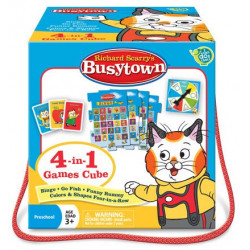 4-in-1 Games Cube - Richard Scarry's Busytown