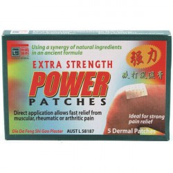 Cathay Herbal Extra Strength Power Patches x 5 Dermal Patches ( Carton of 12 ) ***HOT PRICE***