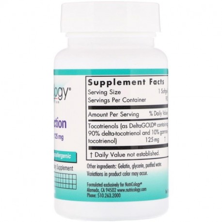 Nutricology Delta-Fraction Tocotrienols 125 mg 90 Softgels