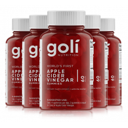 World's First Apple Cider Vinegar Gummy Vitamins by Goli Nutrition - 5 Pack - (300 Count, Organic, Vegan, Gluten-Free, Non-GMO)