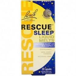 Bach Original Flower Remedies Rescue Sleep Liquid Melts 28 Capsules