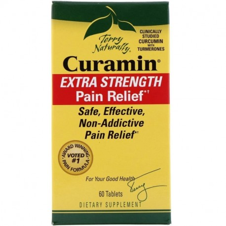 EuroPharma Terry Naturally Curamin Extra Strength Pain Relief 60 Tablets