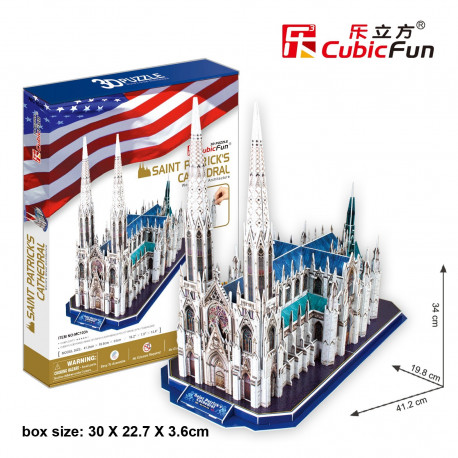 """Cubic Fun - 3D Puzzle: """"St.Patrick's Cathedral"""