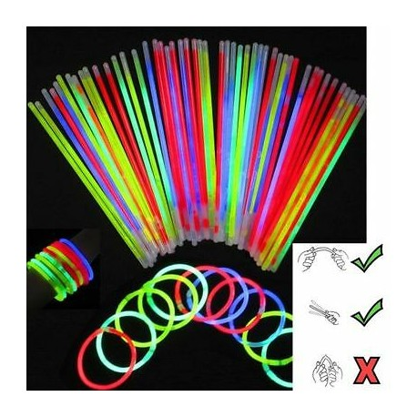 Party Glow Sticks with Connectors 20 Pack