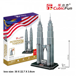 "Cubic Fun - 3D Puzzle: ""Petronas Towers"" (88pc)"