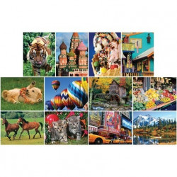 12 pack of 1000pc Jigsaw Puzzles (Mixed)
