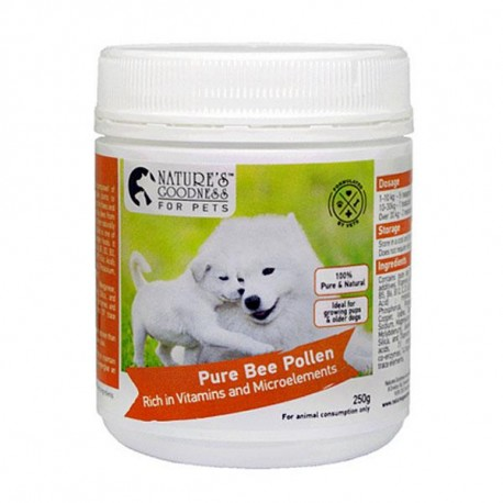 Nature's Goodness Bee Pollen For Pets- Healthy Glowing Coat 250 g