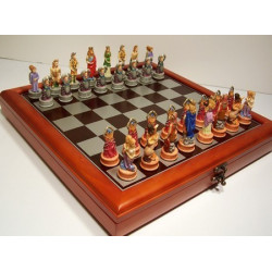 "Hand Paint Chess Set - Zodiac (StarSigns)"" Theme with 75mm pieces, 45cm Chess Set Board + Storage Box"