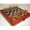 """Hand Paint Chess Set - Zodiac (StarSigns)"""" Theme with 75mm pieces, 45cm Chess Set Board + Storage Box"""