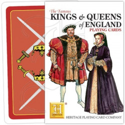 Heritage Playing Cards - King & queens of England