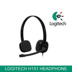Logitech Stereo Headset H151 MIC In-Line Control Noise Cancelling Gaming Headset