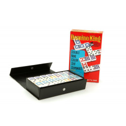 Dominoes - Domino King, double 9, colour dots,spinners