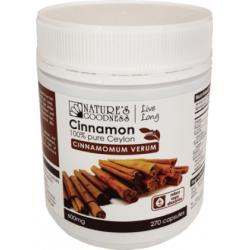 Nature's Goodness Cinnamon Capsules 600 mg 270 Capsules